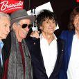 Les Rolling Stones (Charlie Watts, Keith Richards, Ronnie Wood et Mick Jagger), le 13 juillet 2012 à Londres.
