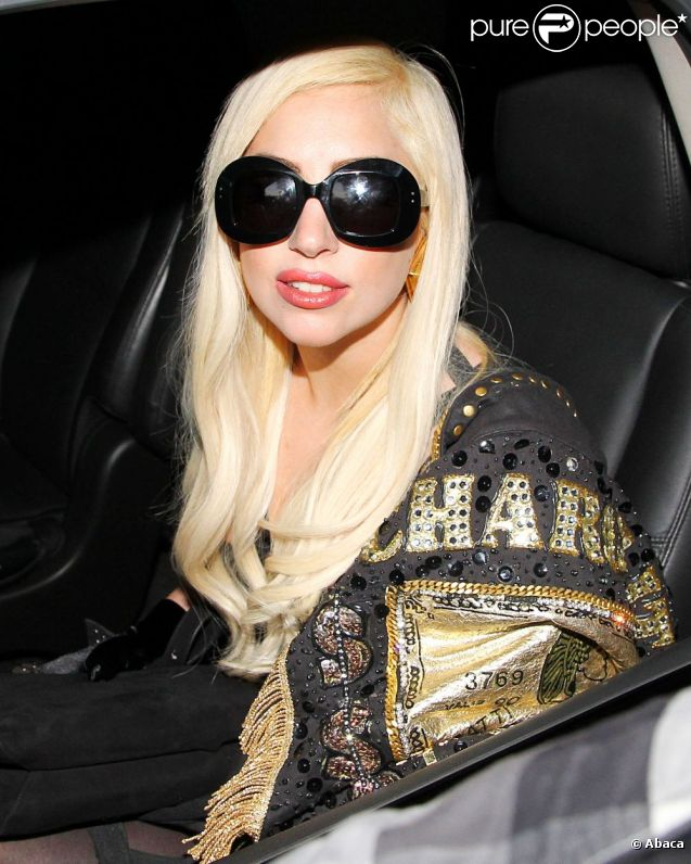 Lady Gaga à Los Angeles, le 10 juillet 2012.
