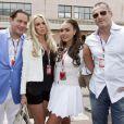 Tamara Ecclestone et Omar Khyami accompagnés de Petra Ecclestone et son mari James Stunt le 27 mai 2012 lors du Grand Prix de Monaco