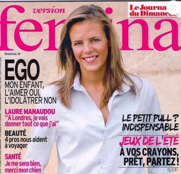 Laure Manaudou en couverture de Version Femina actuellement en kiosques