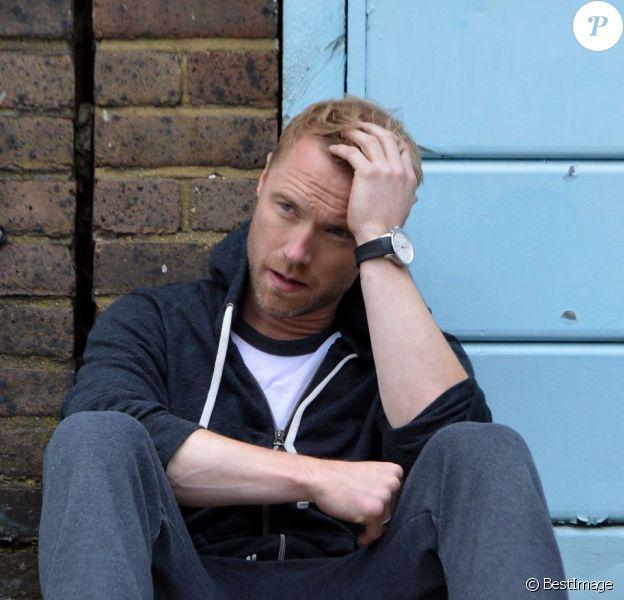 EXCLU : Ronan Keating sur le tournage de son nouveau clip à Londres, le 13 juillet 2012.