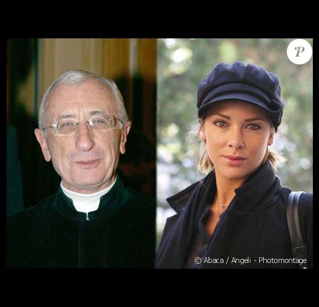 L'Abbé Alain Maillard de la Morandais et Melissa Theuriau