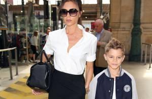 Victoria Beckham : Shopping à Paris avec son fils Romeo