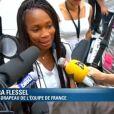 Laure Flessel débarque à Londres pour les Jeux olympiques le 24 juillet 2012