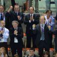 Présent à l'Aquatics Centre de Londres pour les finales en soirée du 30 juillet 2012, le président François Hollande aura savouré le succès de Yannick Agnel sur 200m nage libre et assisté à l'échec de Camille Lacourt, 4e de la finale du 100m dos des Jeux olympiques.