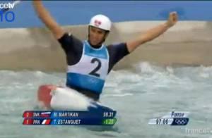 JO 2012 : Tony Estanguet médaille d'or, un hat-trick olympique historique