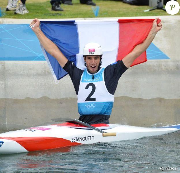 Tony Estanguet est devenu champion olympique pour la troisième fois à Londres le 31 juillet 2012
