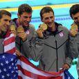 L'équipe américaine a décroché l'argent lors du relais 4x200 m lors des Jeux olympiques de Londres le 31 juillet 2012