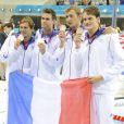 L'équipe de France composée d'Amaury Leveaux, Grégory Mallet, Clément Lefert et Yannick Agnel a décroché l'argent lors du relais 4x200 m lors des Jeux olympiques de Londres le 31 juillet 2012