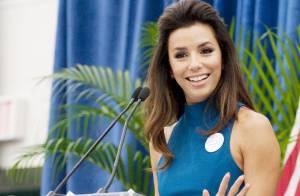 Eva Longoria, digne et radieuse malgré son deuil : soutien sexy de Barack Obama