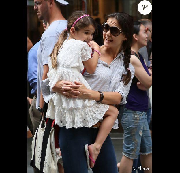 Katie Holmes a emmené sa fille Suri Cruise au Museum of Modern Art à New York le 6 août 2012