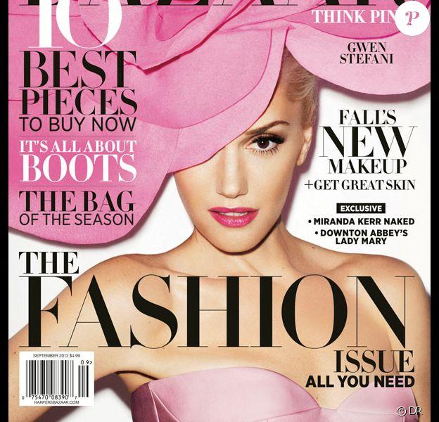 Gwen Stefani, photographiée par Terry Richardson pour le numéro de septembre 2012 du Harper's Bazaar.