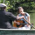 Keira Knightley sur le tournage du film Can a Song Save Your Life à New York le 7 août 2012