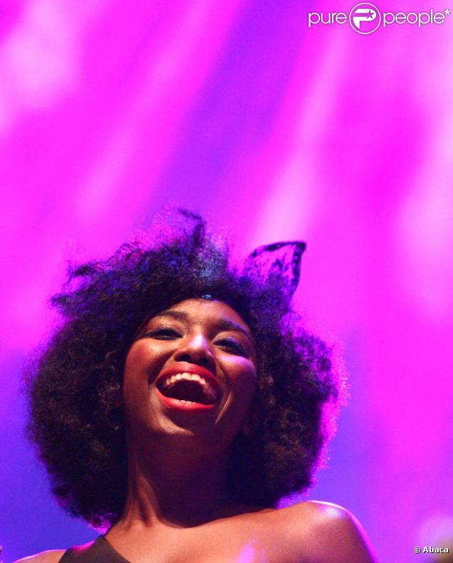 Inna Modja en concert lors du Axe Boat Live concert à Argeles-sur-mer le 7 août 2012
