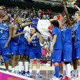 Des joueuses de ouf qui s'éclatent : les basketteuses françaises ont écrit l'une des plus belles pages de leur histoire le 9 août 2012 aux JO de Londres, surclassant, sous la houlette de Céline Dumerc, la Russie (81-64) et se qualifiant pour leur première finale olympique.