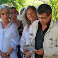 Obsèques du journaliste français Michel Polac, dans le village de Cabrerolles, le 10 août 2012 - Patrick Pelloux prend la parole