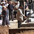 Obsèques du journaliste français Michel Polac, dans le village de Cabrerolles, le 10 août 2012
