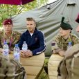 David Beckham rencontre des militaires de l'armée britannique au parc olympique de Stratford, le vendredi 10 août 2012.