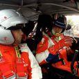 Philippe Bugalski avait causé des sensations très fortes à quelques footballeurs de l'équipe de France de football, comme ici Mathieu Valbuena, venus au printemps 2012 tester avec lui la Citroën DS3 WRC.