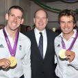 Le prince Albert de Monaco donnait le 9 août 2012 à la Maison de Monaco à Londres, en marge des JO, une grande 'Soirée olympique'.