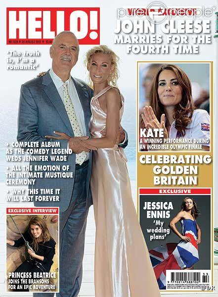 John Cleese et sa femme Jennifer Wade en couverture de Hello! Magazine - août 2012