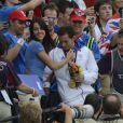 Renaud Lavillenie a savouré avec sa compagne la perchiste Anaïs Poumarat son titre de champion olympique de saut à la perche et sa médaille d'or aux JO de Londres le 11 août 2012. Le Français est devenu vendredi 10 août 2012 aux JO de Londres le premier champion olympique de l'athlétisme français depuis Jean Galfione en 1996, en remportant le concours de saut à la perche avec une barre à 5m97.