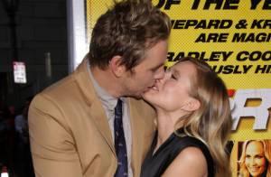 Kristen Bell : Un doux baiser pour son fiancé Dax Shepard