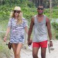 Doutzen Kroes à Miami avec son mari Sunnery James. Le 16 août 2012