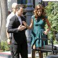 Kevin Jonas et son épouse Danielle à The Grove, à Los Angeles, le 16 août 2012, pour promouvoir l'émission de télé réalité Married to Jonas dédiée à leur union et leur vie de couple ainsi qu'à la reformation des Jonas Brothers.