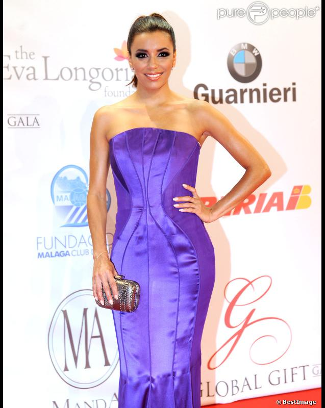 La belle Eva Longoria au Global Gift Gala, à Marbella, le 19 août 2012