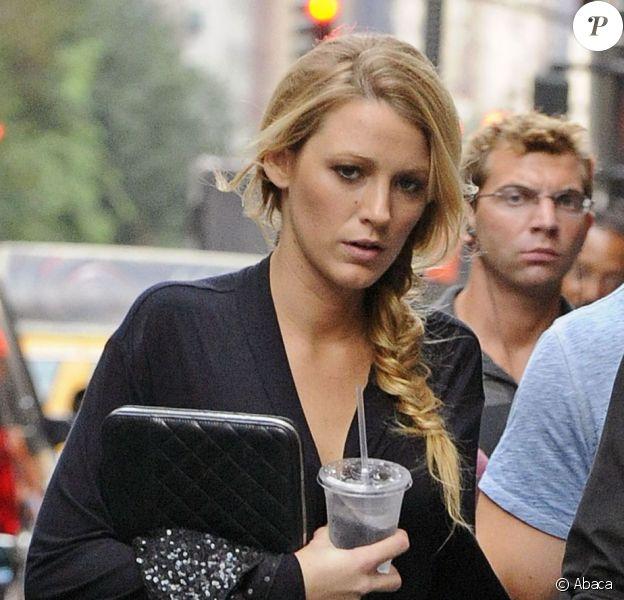 Blake Lively sur le tournage de Gossip Girl le 21 août 2012