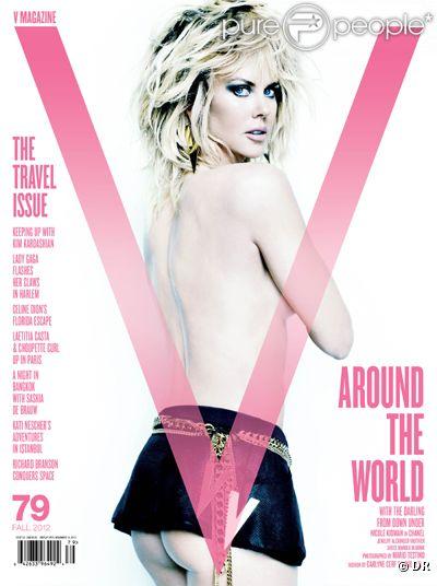 Nicole Kidman, sexy et sûre d'elle, pose topless et dévoile son postérieur à Mario Testino pour le numéro 19 du magazine V.