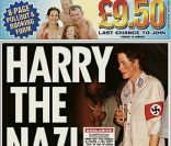 Le prince Harry en nazi à la une de  The Sun  en 2005.