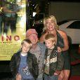 Tony Scott, sa femme Donna et leurs enfants Max et Frank à Hollywood en 2005