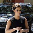 Kim Kardashian, très en beauté pour assister à la messe dominicale de l'église Life Change Community. Agoura Hills, le 26 août 2012.