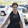Kim Kardashian se rend à la messe de l'église Life Change Community avec son neveu Mason. Agoura Hills, le 26 août 2012.
