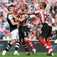 Joey Barton s'embrouille avec des joueurs de Sunderland le 20 août 2011 à Sunderland
