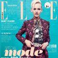 Ginta Lapina (Women Management) entièrement habillée en Miu Miu, fait la couverture du n° 3479 du magazine  Elle.