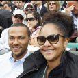 Jesse Williams et sa femme Aryn Drake-Lee en mai 2010 à Paris lors du tournoi de Roland Garros.