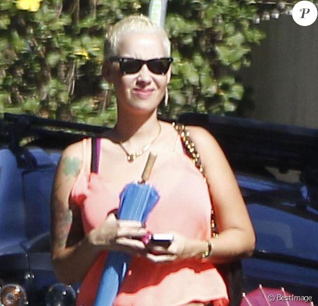 Amber Rose enceinte, à Los Angeles le 2 septembre 2012