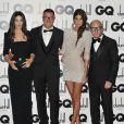 Monica Bellucci et Bianca Brandolini d'Adda, ravissantes muses de Stefano Gabbana et Domenico Dolce lors des GQ Men of the Year Awards. Le 4 septembre 2012.