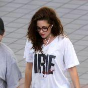 Kristen Stewart : En route pour l'enfer, armée du T-shirt de Robert Pattinson