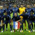 L'équipe de France lors de son match face à la Biélorussie (3-1) en qualification au mondial brésilien le 11 septembre 2012 à Saint-Denis