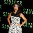 La sexy Salma Hayek présente  Savages  à Paris le 14 septembre 2012.