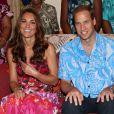 Kate Middleton et le prince William lors de sa visite au gouverneur général Frank Kabui à Honiara, capitale des Iles Salomon le 16 septembre 2012
