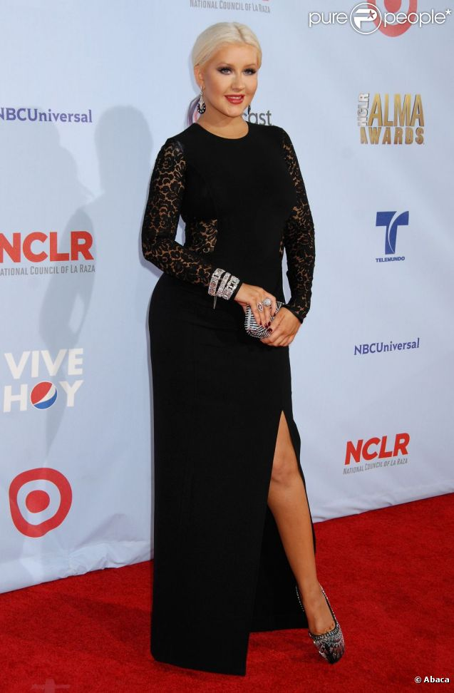 Christina Aguilera aux ALMA Awards, à Los Angeles, le 16 septembre 2012.