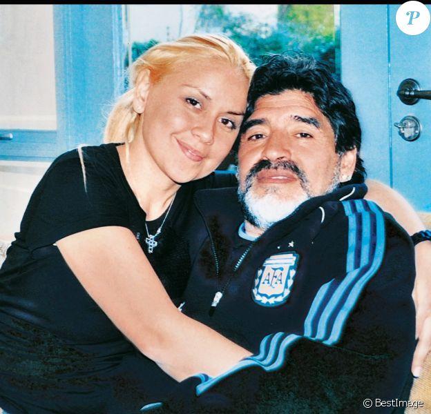 Diego Maradona et Veronica Ojeda en Afrique du Sud le 11 juin 2010