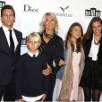 Marie Sara et ses enfants lors de la soirée d'inauguration de la Cite du Cinéma à Saint Denis le 21 septembre 2012