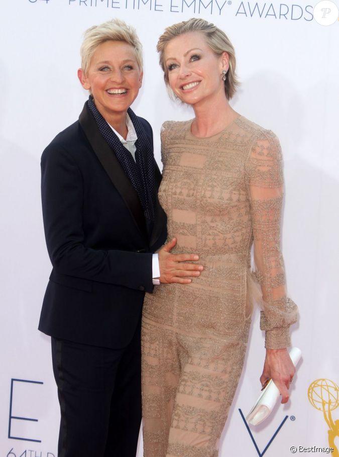 Ellen degeneres et portia de rossi la 64eme ceremonie for Ellen degeneres and portia de rossi story