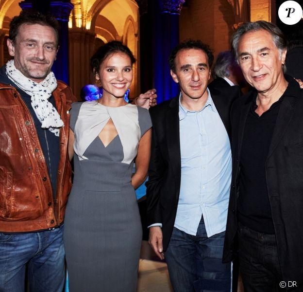 Jean-Paul Rouve, Viriginie Ledoyen, Elie Semoun et Richard Berry lors de la soirée Pilot de Zénith au Musée des Arts et Métiers à Paris le 17 septembre 2012